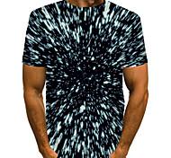 economico -Per uomo maglietta Stampa 3D Pop art 3D Print Taglie forti Con stampe Manica corta Quotidiano Top Essenziale Esagerato Nero