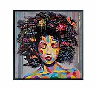 economico -graffiti street wall art astratto moderno africano donne ritratto pittura a olio stampata su tela per soggiorno (50 cm x 50 cm)