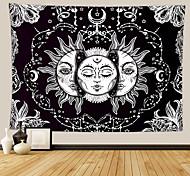 abordables -tarot divination tapisserie murale art décor couverture rideau pique-nique nappe suspendu maison chambre salon dortoir décoration mystérieuse lune bohème soleil étoile noir blanc