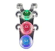 abordables -Gel de silice lumière de vélo extra lumineux lent / flash / longue lumière néon LED lampe de sécurité de nuit pour vélo toute position (vert)