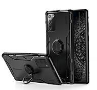economico -telefono Custodia Per Samsung Galaxy Per retro Silicone Custodia in silicone Note 20 Ultra Note 20 Resistente agli urti Supporto ad anello Ultra sottile Tinta unica Fibra di carbonio Silicone Metallo