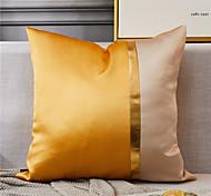 abordables -1 pc satin de soie de haute qualité deux couleurs taie d'oreiller couverture salon chambre canapé taie d'oreiller housse