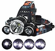 abordables -Lampes Frontales LED Phare Avant de Moto Imperméable Super brillant Émetteurs 4.0 Mode d'Eclairage avec Piles et Chargeur Imperméable Super brillant Ultra léger (UL) Camping / Randonnée / Spéléologie
