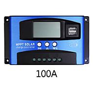 economico -Regolatore di carica solare 100a mppt doppio display lcd usb carica regolatore automatico del caricatore del pannello delle celle solari