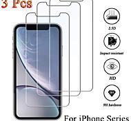 abordables -Protection Ecran Apple Verre Trempé iPhone 11 iPhone XR iPhone 11 Pro iPhone 11 Pro Max iPhone XS 3 pcs Haute Définition (HD) Dureté 9H Antidéflagrant Ecran de Protection Avant Film Vitre Protection
