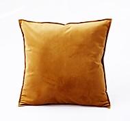 abordables -1 pc luxe velours couleur unie taie d'oreiller couverture salon chambre canapé housse de coussin