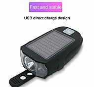 economico -energia solare ricarica usb t6 bici luce manubrio anteriore bicicletta lampada led da ciclismo