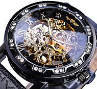 economico -WINNER Per uomo orologio meccanico Analogico Carica automatica Stile vintage Casuale Orologi con incisioni / Due anni / Pelle