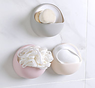 cheap -Creative Fashion Powerful Suction Cup Soap Box Bathroom Simple Soap Box Wall-Mounted Drain Soap Holder