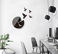 economico -grandi dimensioni 3d adesivi murali piccione della pace creativo semplice specchio acrilico sfondo decorativo orologio da parete