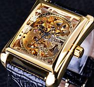 economico -WINNER Per uomo Orologio elegante orologio meccanico Analogico Carica automatica Alla moda Casuale Resistente all'acqua / Pelle