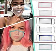abordables -masque transparent respirant sourd-muet masque de langage des lèvres hommes et femmes couleur unie masquage adulte couleur unie bordure masque transparent complet