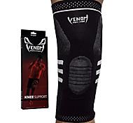 abordables -genouillère de compression venom - support élastique& stabilisateurs latéraux, genou du coureur, genou du sauteur, douleur arthritique, acl, basket-ball, football, crossfit, levage, course à pied,