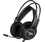 abordables -LITBest H210 Casque sur l'oreille USB filaire Avec Micro Avec contrôle du volume Résistant à la sueur pour Jeux PlayStation Xbox PS4 Switch