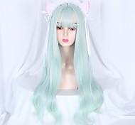abordables -Non Bleu Douce Lolita Ōji Lolita (style garçon) Lolita Perruque Lolita 75 pouce Perruques de Cosplay Mode Perruque Perruques d'Halloween