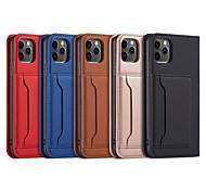 economico -telefono Custodia Per Apple Integrale Custodia in pelle iPhone 12 Pro Max 11 SE 2020 X XR XS Max Porta-carte di credito Con supporto Con chiusura magnetica Tinta unica pelle sintetica