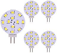 abordables -5pcs T10 G4 12 LED 3528 2W AC12V DC12-24V Maïs LED Mini Lampada LED Ampoule Perles Dimmable Décoratif Blanc Chaud Lumière Du Jour Blanc