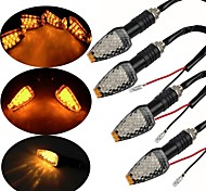 abordables -4packs 12 LED clignotants de moto lumières ambre moto veilleuses universelles pour Harley Davidson Yamaha etc.