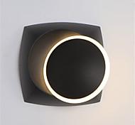 abordables -nordique simple led applique murale quare chevet eclipse applique 360 rotation noir et blanc décoration salon fond mur lampe d'escalier