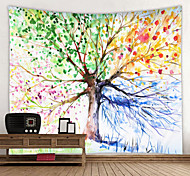 abordables -Peinture à l'huile style tapisserie murale art décor couverture rideau suspendu maison chambre salon décoration vie arbre
