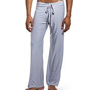 abordables -Homme Pantalon de yoga Cordon Pantalons / Surpantalons Respirable Blanche Noir Bleu Roi Aptitude Exercice Physique Fonctionnement Des sports Tenues de Sport Elastique Ample