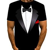 abordables -Homme T-shirt Impression 3D Graphique Imprimé Manches Courtes Quotidien Hauts basique Exagéré Noir Bleu Rouge