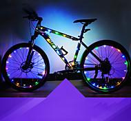 economico -LED Luci bici Luci bici Tubi lineari Telaio Bicicletta Ciclismo Impermeabile Sicurezza Adatto per veicoli Facile da portare Batteria a bottone 2 ×BatterieAA Bianco Rosso Blu Ciclismo moto