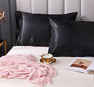 abordables -taie d'oreiller en satin soyeux pour cheveux, lot de 2 taie d'oreiller en satin de luxe de taille standard pour cheveux et peau avec fermeture à enveloppe