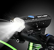 economico -300 lumen luce per bicicletta ricaricabile usb manubrio anteriore bici ciclismo led torcia faro