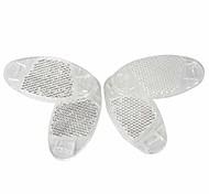 abordables -4 pièces réflecteurs de rayons de roue de vélo pour vélo de montagne décoration de vélo de route avertissement sûr, blanc ovale