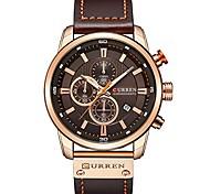 economico -curren uomo cinturino in pelle orologi militari cronografo da uomo impermeabile sport da polso data orologio da polso al quarzo regali litbwat