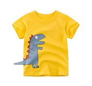 economico -Bambino Da ragazzo maglietta T-shirt Manica corta Dinosauro Animali Con stampe Blu Giallo Cotone Bambini Top Estate Essenziale Fantastico