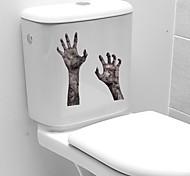 abordables -3D horreur empreinte de main Halloween stickers muraux stickers muraux décoratifs, PVC décoration de la maison sticker mural décoration murale / amovible 23 * 25 cm