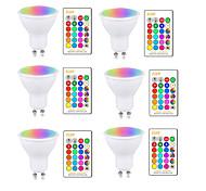 abordables -Ampoule LED 5W RGBW GU10 E27 AC85-265V Changement de couleur de la lampe d'éclairage Dimmable avec télécommande IR
