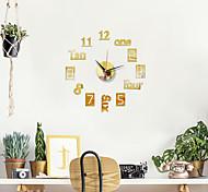 abordables -Horloge murale de bricolage de conception moderne de 16 pouces Horloge de miroir acrylique 3D avec aiguille de quartz pour le salon
