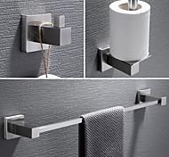 abordables -3 pièces ensemble de matériel de salle de bain porte-serviettes de salle de bain, crochet de robe, porte-serviettes, 304 en acier inoxydable à faible teneur en carbone en acier mural en métal