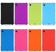 abordables -téléphone Coque Pour Lenovo Coque Arriere Lenovo Tab M7 TB-7305F Antichoc Avec Support Couleur Pleine Silicone