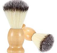 abordables -Paquet de 2 blaireaux de blaireau 100% pur fabriqués à la main avec manche en bois dur, outil de salon de coiffure professionnel de luxe pour hommes, conçu pour offrir le rasage parfait de votre vie