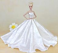 economico -Accessori della bambola Vestiti per le bambole Abito da bambola Abito da matrimonio Festa / Serata Matrimonio Da principessa Di pizzo Tulle Pizzo Organza Per la bambola da 11,5 pollici Giocattolo