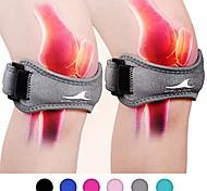 abordables -1 pc sangle de soutien du tendon rotulien soulagement de la douleur au genou avec silicone réglable genou bande orthèse stabilisateur pour gym course à pied randonnée haltérophilie basketball volleyba