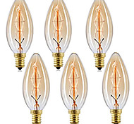 economico -10 pz 6 pz 4 pz 40 w e14 c35 giallo caldo 2200-2700 k retro dimmerabile decorativo incandescente vintage edison lampadina 220-240 v