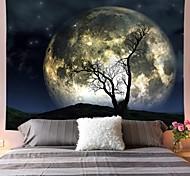 abordables -tapisserie murale art décor couverture rideau pique-nique nappe suspendu maison chambre salon dortoir décoration polyester arbre lune ciel vues