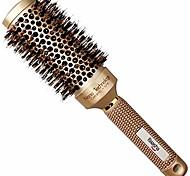 economico -pennello tondo medio grande da 2 pollici, spazzola tonda in pelo di cinghiale da donna, spazzola tonda per asciugatura a phon di media lunghezza, spazzola per capelli professionale con fusto in