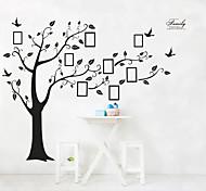 economico -grande albero genealogico adesivi murali autoadesivi decorazioni per la casa rimovibile nero cornice per foto albero pvc wall art adesivi murali decalcomania 4 pezzi 90 * 60 * 2 cm