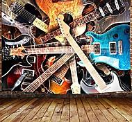 """abordables -tapisserie de musique, tapisserie musicale de guitare tenture murale pour chambre à coucher, tapisserie d'amant de style rock d'instrument décor à la maison& # 40; 60 """"lx 40"""" h& # 41;"""