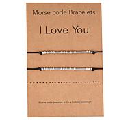 abordables -Morse code bracelet ensemble bracelets uniques meilleurs amis amitié bijoux faits à la main cadeaux pour femmes sa soeur d'hommes