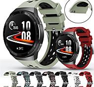 economico -Cinturino intelligente per Huawei 1 pcs Cinturino sportivo Chiusura classica Silicone Sostituzione Custodia con cinturino a strappo per Huawei Watch GT 2 Huawei Watch GT 2e Huawei Watch GT 2 46MM 22mm