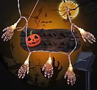economico -1.5m 10leds ghost hand halloween string lights aa batteria a batteria ghost festival horror light string luci di decorazione di halloween