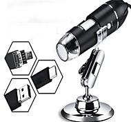 economico -microscopio digitale USB portatile con microscopio elettronico a 8 luci 3 in 1 500-1600x
