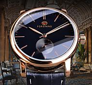 economico -FORSINING Per uomo orologio meccanico Analogico Carica automatica Stile vintage Casuale Orologi con incisioni / Due anni / Pelle